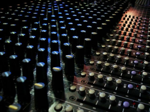 mixing desk,